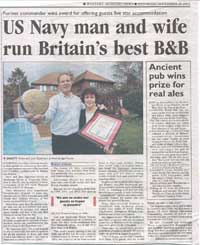 US Navy man and wife run Britain's bedt B and B